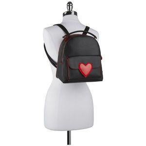 New Olivia Miller Black Red Heart Backpack Purse